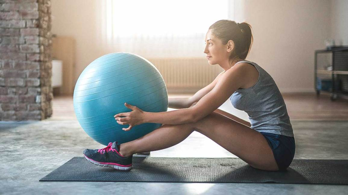 Exercise ball moves
