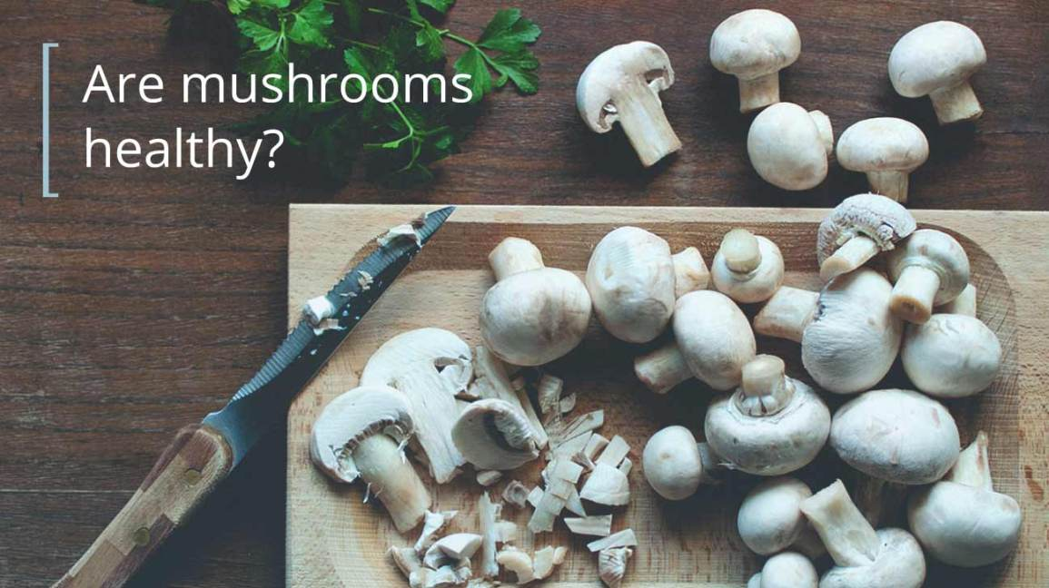 mushrooms on a cutting board