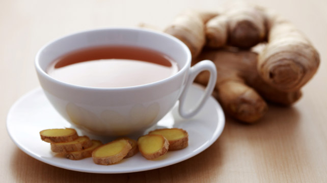 fresh ginger and ginger tea