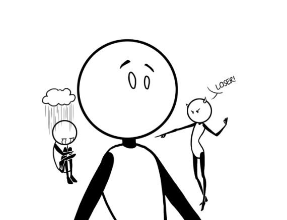 depressed vs manic self