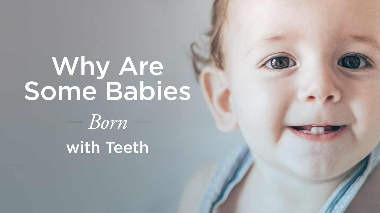 Infant with three bottom teeth amusing