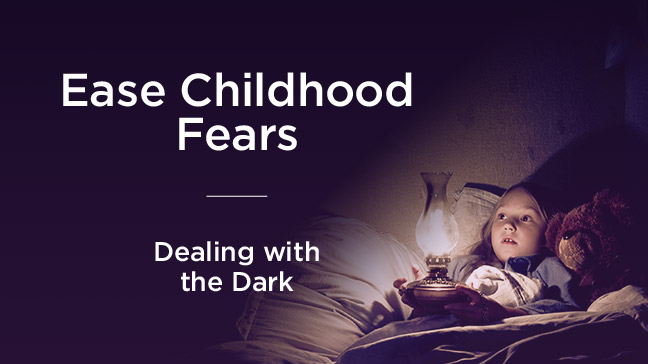 child afraid of the dark