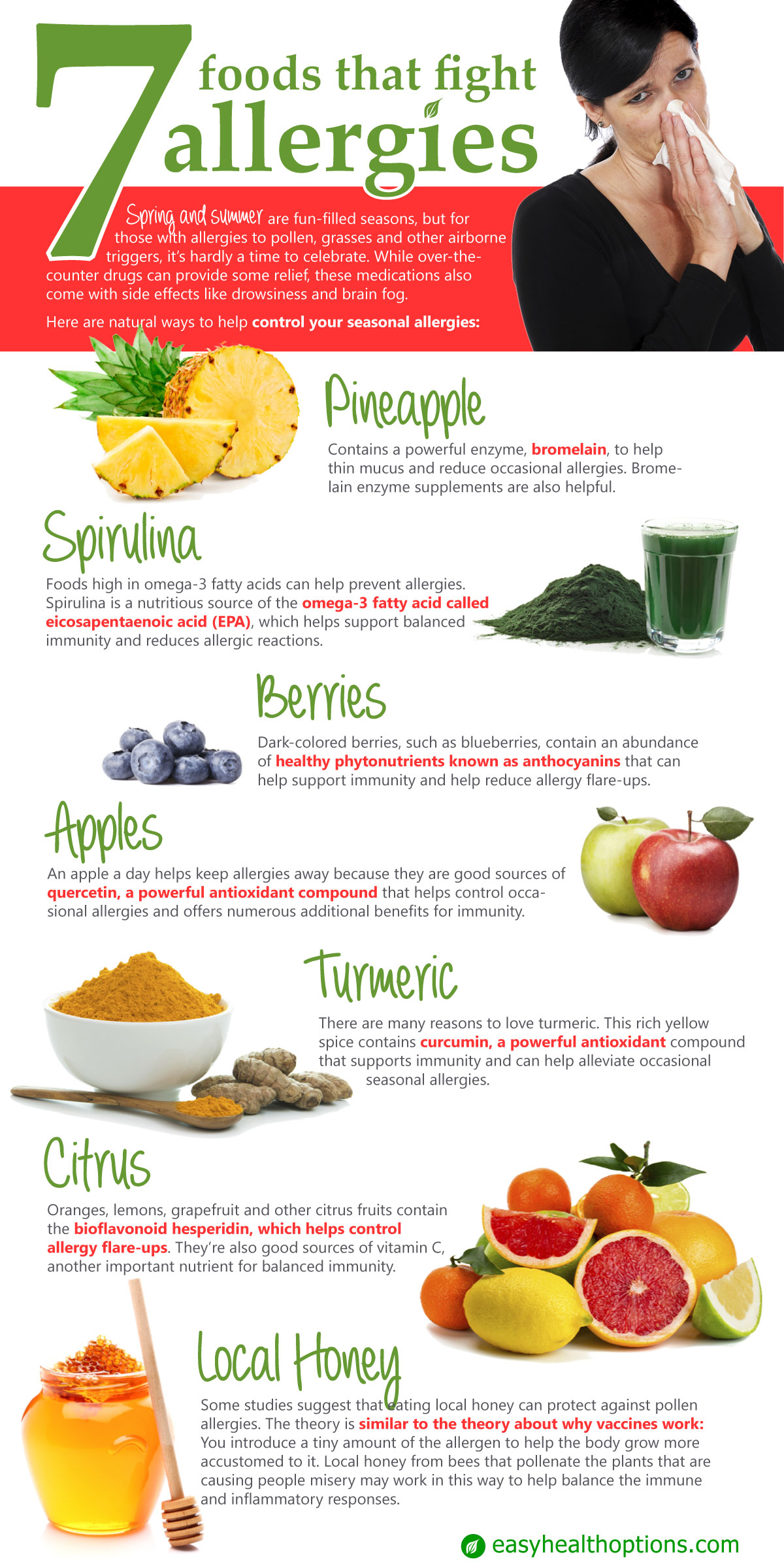 7 foods that fight allergies [infographic] | health maximizer