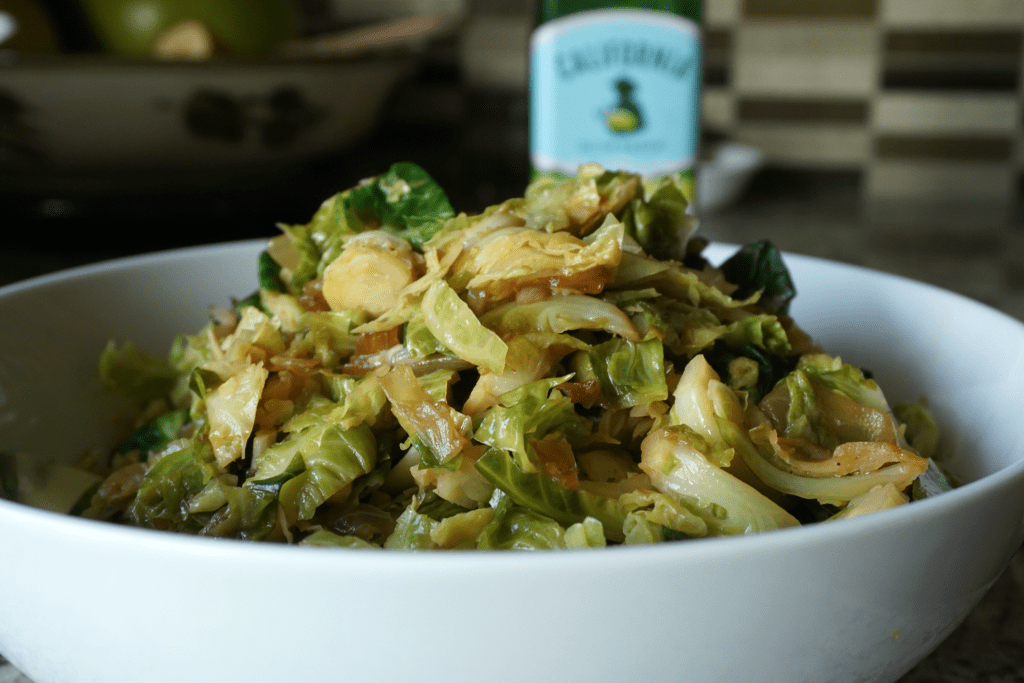Warm Brussels Sprouts Salad (vegan)