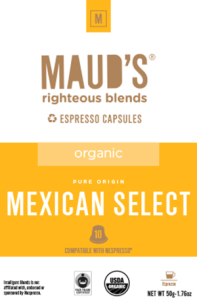 Organic Mexican Select Espresso capsules, 20ct.-160ct.