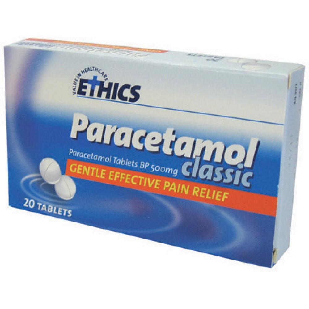 Neuralgia : Ethics Paracetamol Classic 20 Tablets - Heal ...