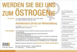 "BIG TALENT: ""Östrogenie"", von Murr-Kliniken gGmbH/W52 MarketingKommunikation GmbH"