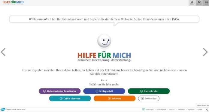 Website Hilfe für mich, ein Netzwerk von Pfizer Deutschland. Netzwerke sind die Basis für Beyond the Pill