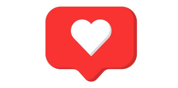 Herz Liken Social Media