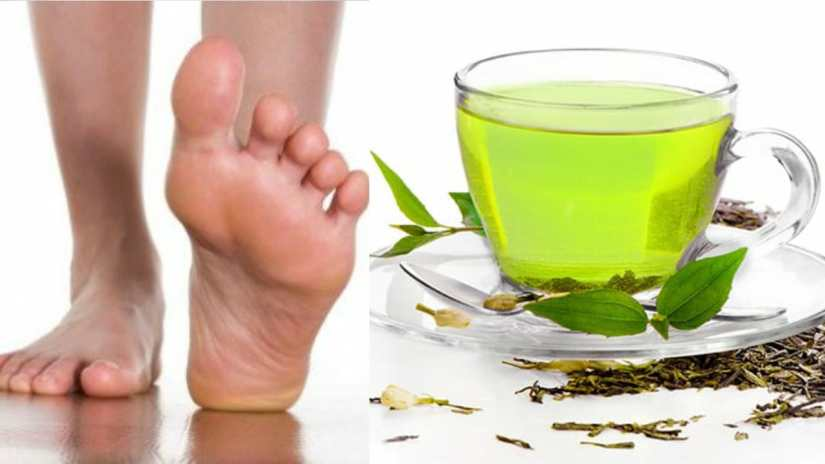Green Tea for foot smell