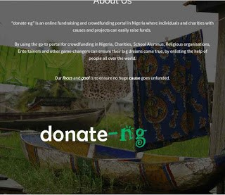 Donate-ng: Nigeria Individuals and Charity Can Raise Funds