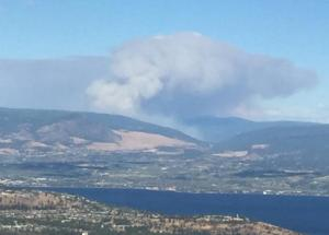 East of Kelowna People Endangered Because Of Wildfire