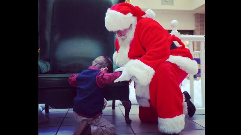 His Dad Was Sick, So He Asked Santa For One Thing: To Pray Together