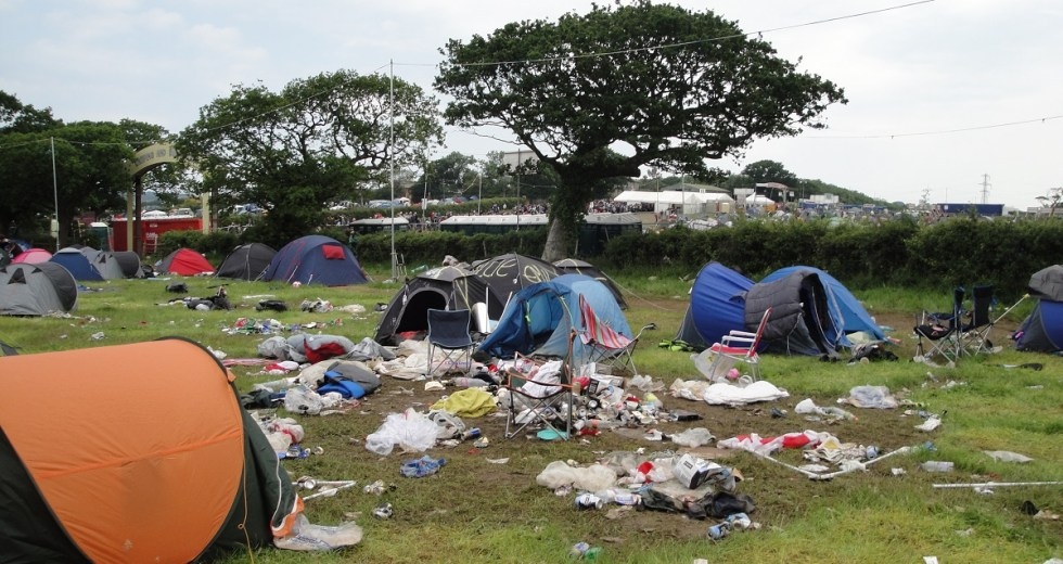 Items Abandoned at Festival Campsite Repurposed for the Homeless