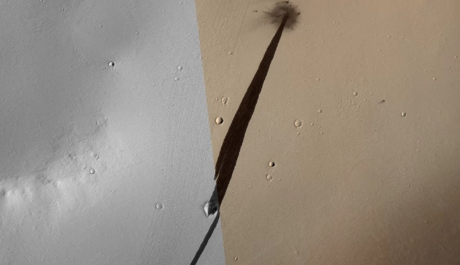 A Recent Meteorite Impact On Mars Caused An Avalanche Of Martian Dust