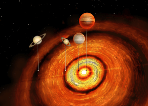 A Young Star is House of Four New Planets