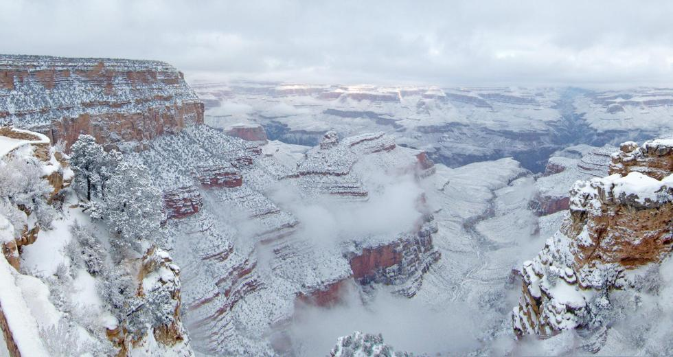 Breathtaking Sights: The Grand Canyon Covered In Snow