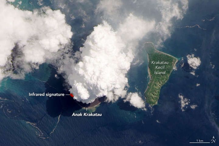 Satellite Images Showcase the Anak Krakatoa Eruption