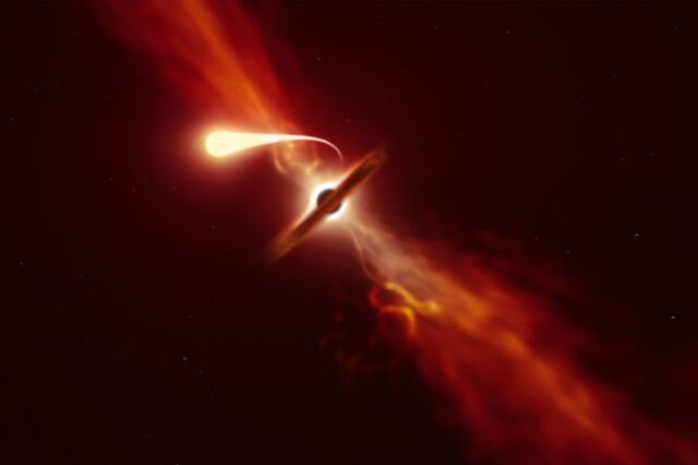 Tidal Disruption Event – Astronomers See A Black Hole Devouring A Star In Real Time