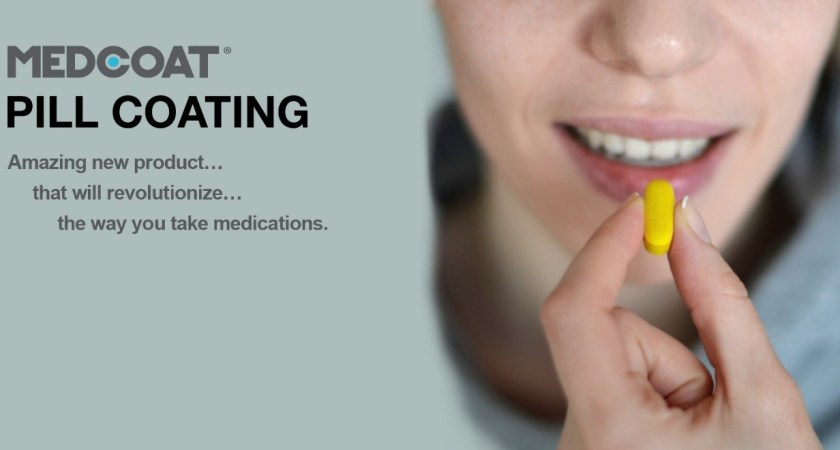 Revolutionary Pill Coating, MEDCOAT, Helps People Take Medicine