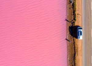 The Water From a Lake in Argentina Becomes Pink