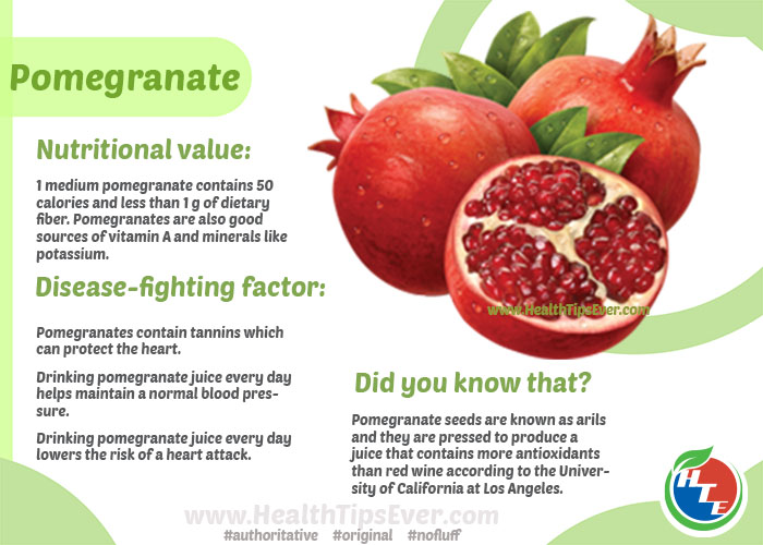 Pomegranate Health Benefits With Infographics Health