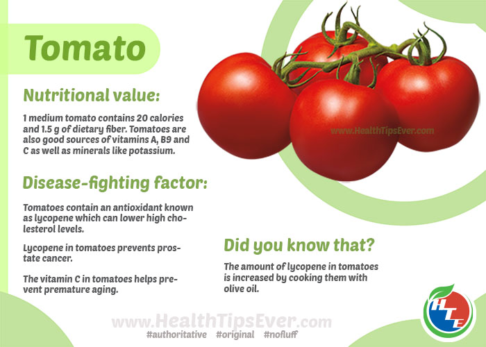Health Benefits of Tomato with Infographics – Health Tips Ever Magazine