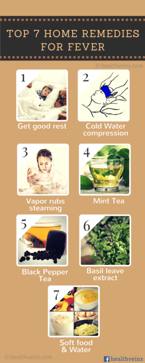 7 fever home remedies