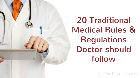 20 traditional medical rules and regulations a doctor should follow