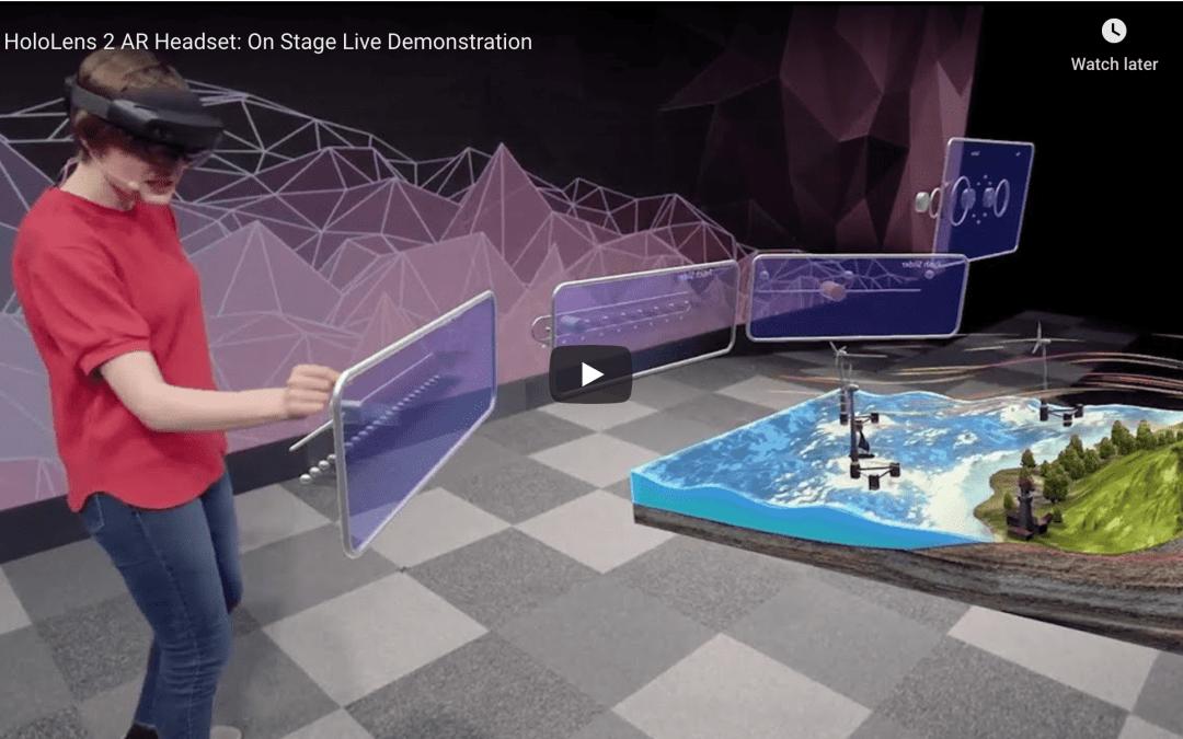 Microsoft HoloLens 2 AR Headset: On Stage Live Demonstration