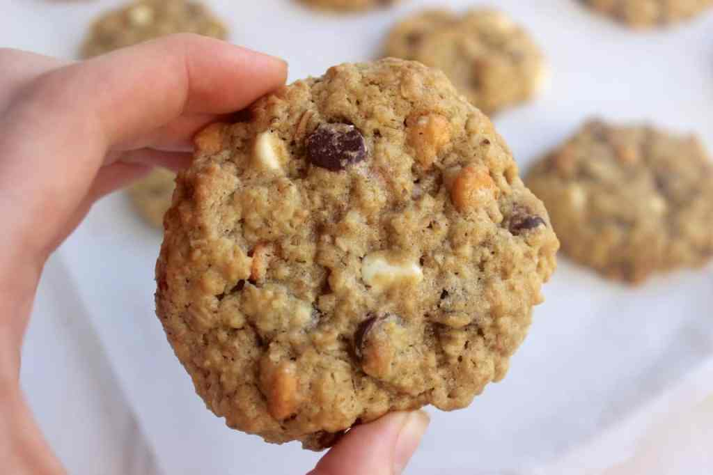 soft and chewy kitchen sink cookies - healthy liv