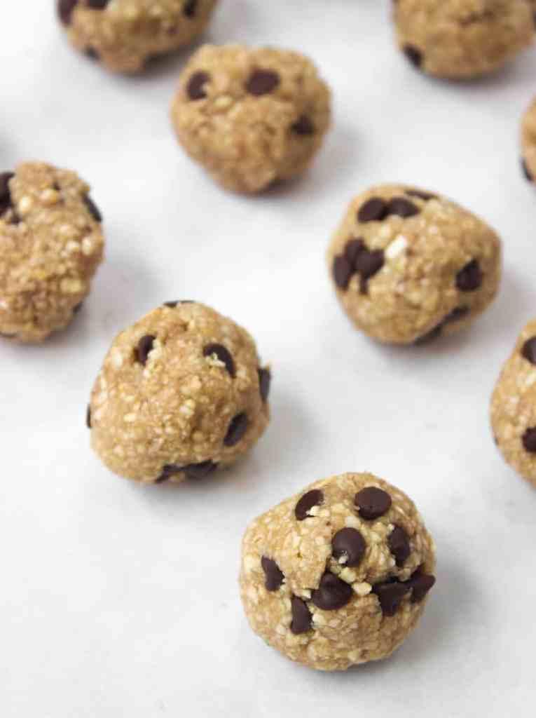 Raw Vegan Cookie Dough Bites - Healthy Liv