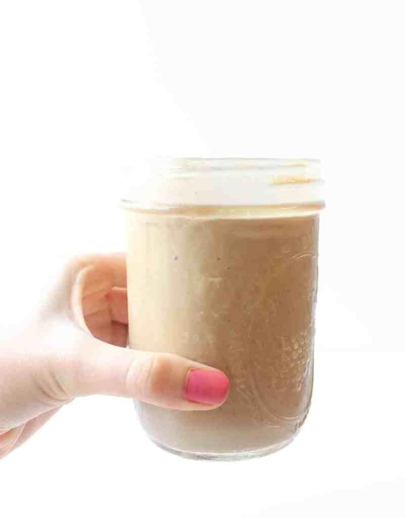 Chocolate Peanut Butter Cup Protein Smoothie - Healthy Liv