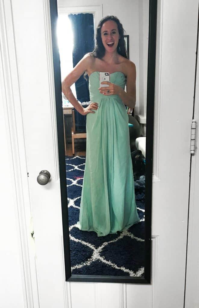 liv bridesmaid dress mint davids bridal (1 of 1)