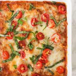 Cheesy Caprese Quinoa Casserole