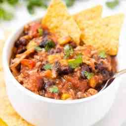 Hearty Chicken Enchilada Soup