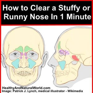 clear a stuffy nose