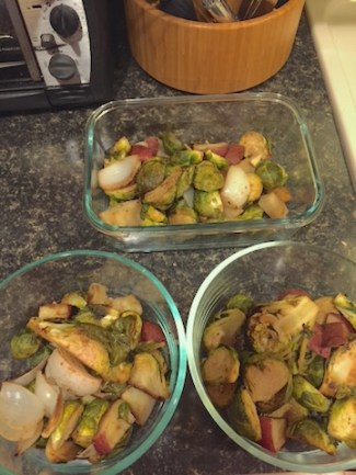 Roasted brussels and veggies