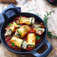 Involtini de courgettes