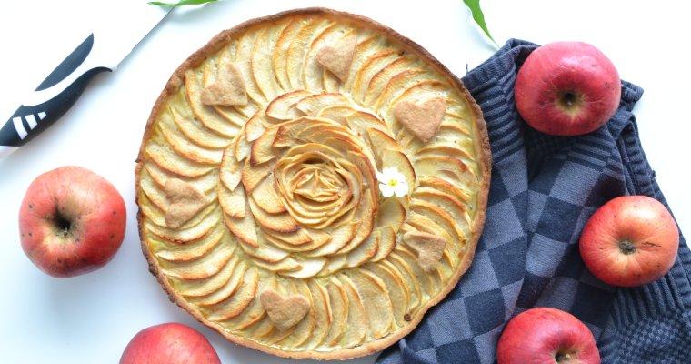 Tarte aux pommes sans beurre ni sucres ajoutés
