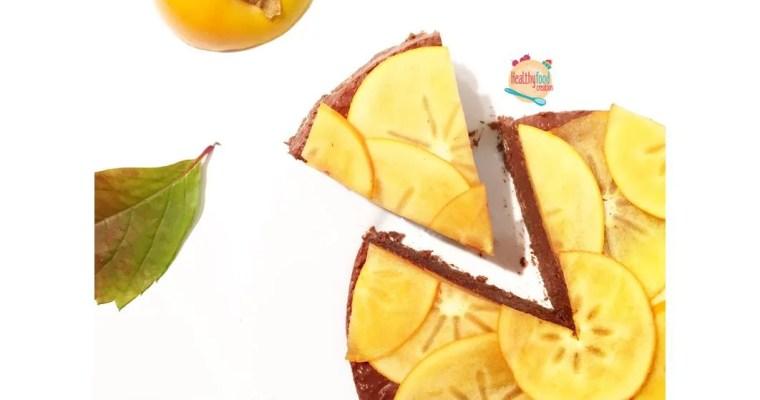 Entremet kaki & chocolat