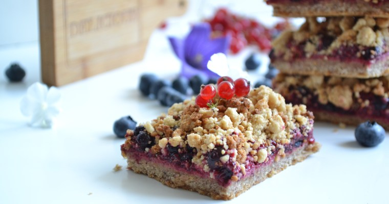 Crumble pie aux fruits rouges