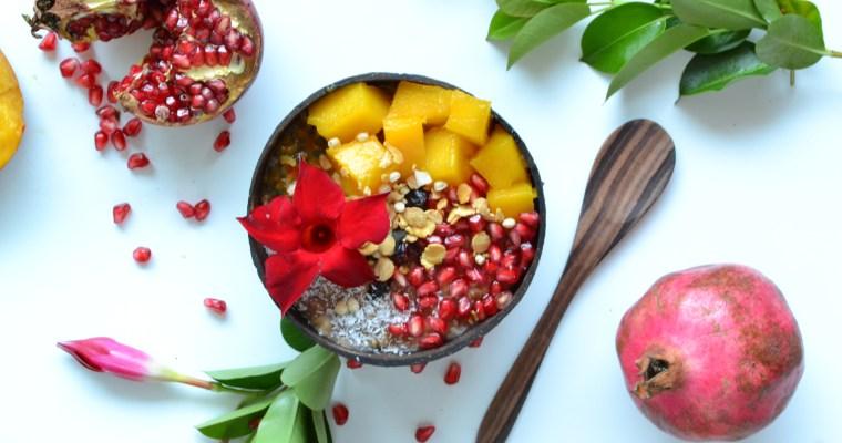 Porridge exotique à la noix de coco