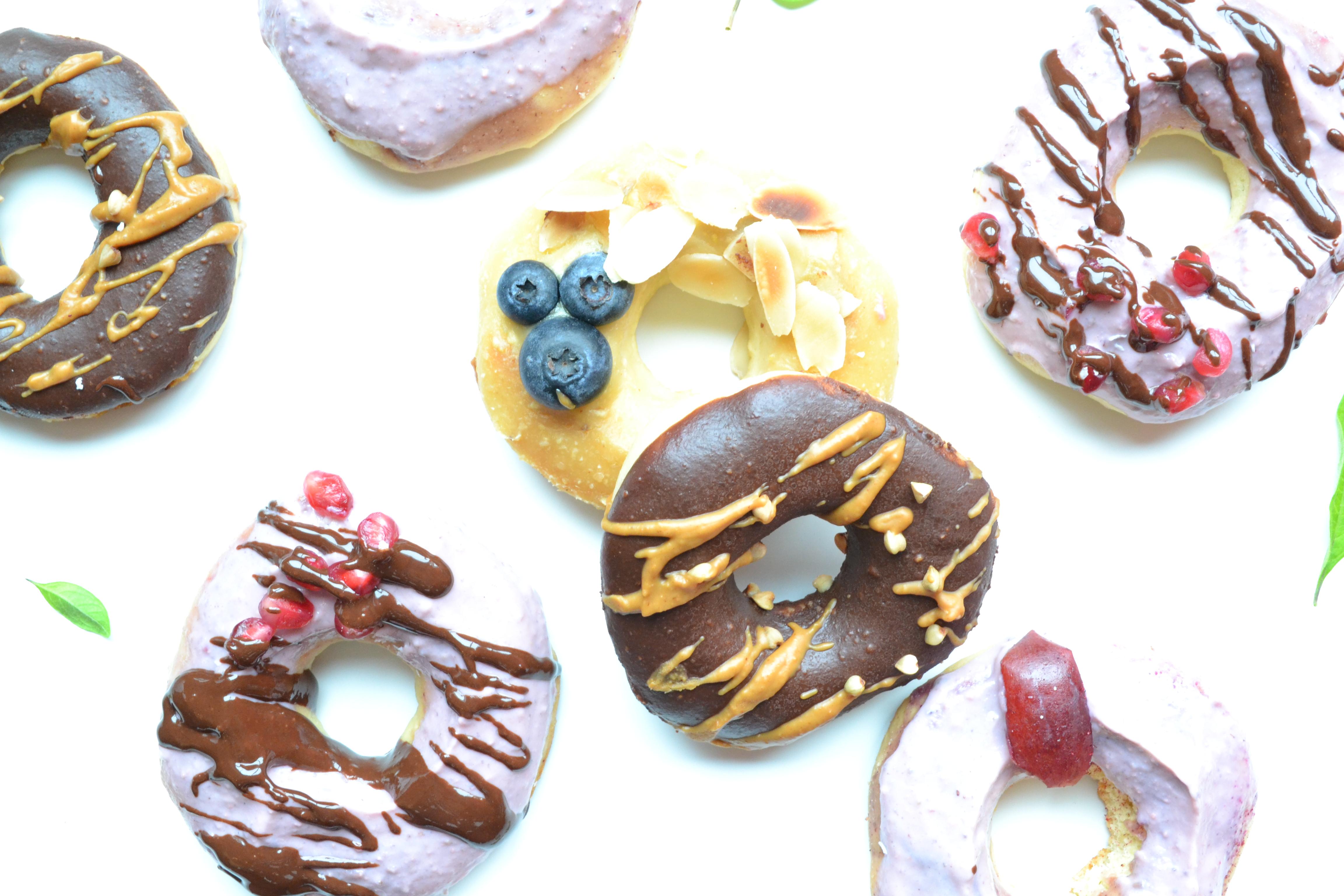 Donuts sans sucre raffiné ni friture
