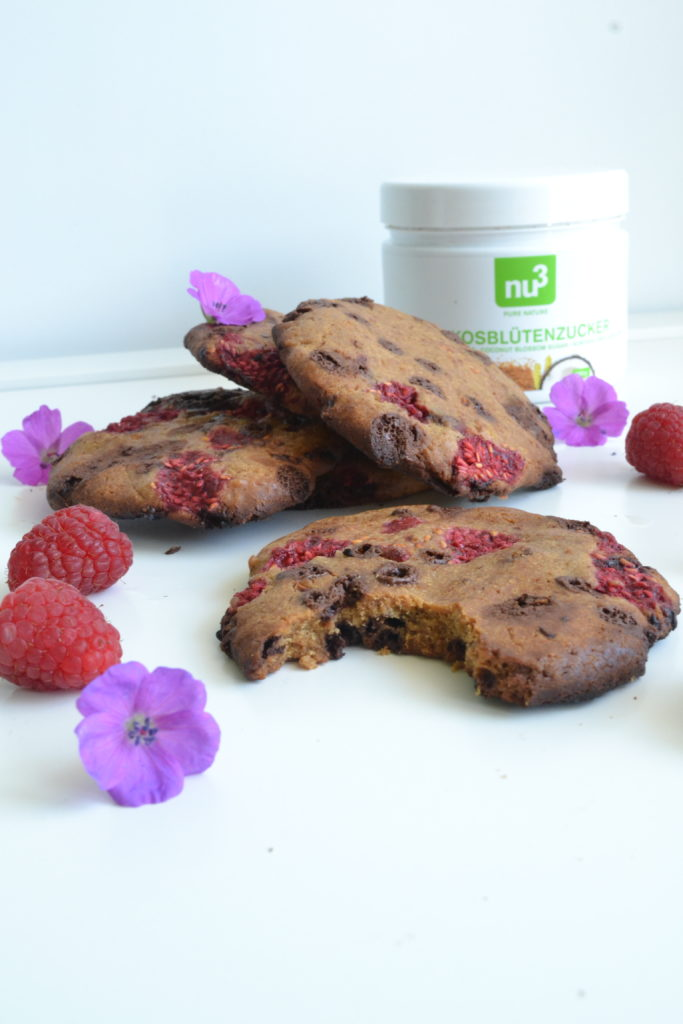 cookies framboises et p pites de chocolat sans sucre ni. Black Bedroom Furniture Sets. Home Design Ideas