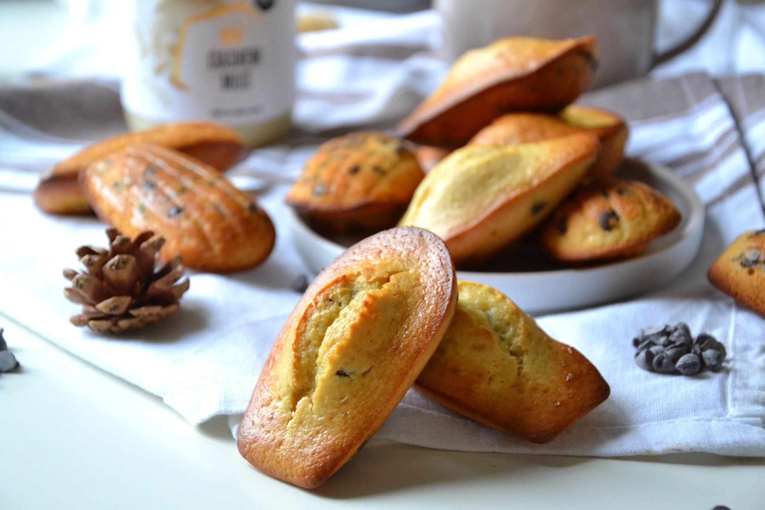 Madelaines healthy aux pépites de chocolat