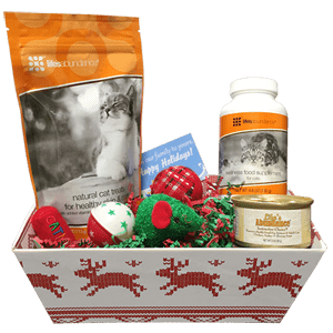 Holiday Gift Basket For Cats Healthy Food For Pets