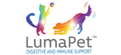LumaPet Logo states digestive and immune support