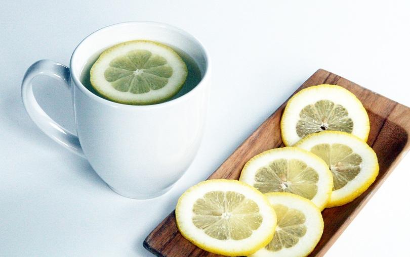 Image result for warm lemon water