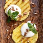 Grilled Pineapple with Lime Yogurt